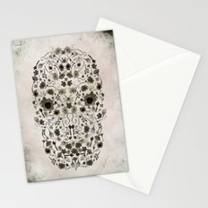 Watercolor Floral Skull Stationery Cards