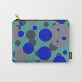 bubbles blue grey turquoise design Carry-All Pouch