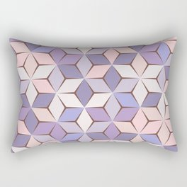 Pink & Purple Geometery Rectangular Pillow