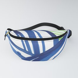 Lime and blue abstract landscape Fanny Pack