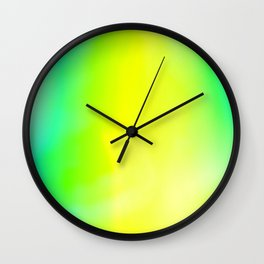 Lime Radiance Wall Clock