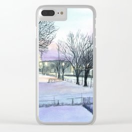 Backyard Ice Clear iPhone Case