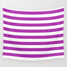Stripes (Purple & White Pattern) Wall Tapestry