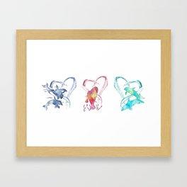 Trio d'Amour de Mer Framed Art Print
