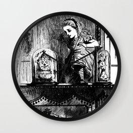Alice climbing into the Looking Glass Land- John Tenniel Wall Clock