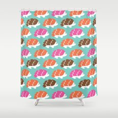 The Bashful Hedgehogs Shower Curtain