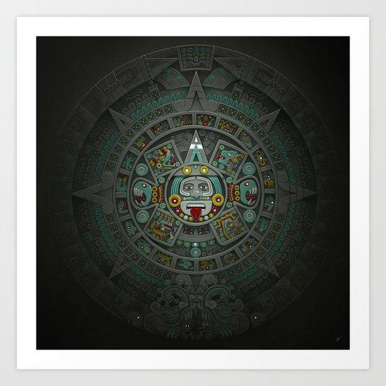 Stone of the Sun II. Art Print