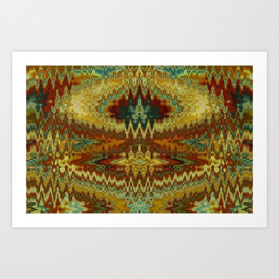 Aztec Abstract Art Print