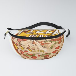 Pizza Illustration Logo With Text Fanny Pack