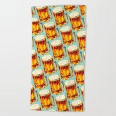 Beer Pattern 2 Beach Towel