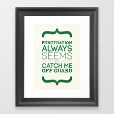 Punctuation Framed Art Print