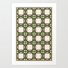 DG GEOMETRIC – KHAKI Art Print