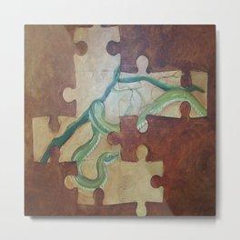 Puzzled snake Metal Print