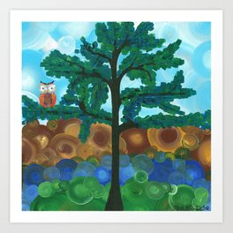 Art by MiMi Stirn - Owl Singles #338 Art Print