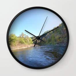Where Canoes and Raccoons Go Series, No. 12 Wall Clock