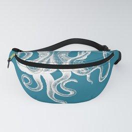 Vintage Octopus teal blue Fanny Pack