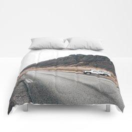 Hitting an icelandic Road Comforters