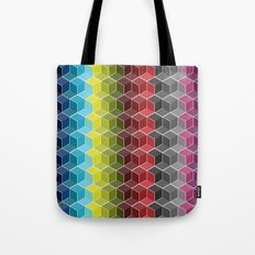 Hexagon Shades / Pattern #6 Tote Bag