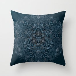Blueberry Field Watercolor Pattern Throw Pillow