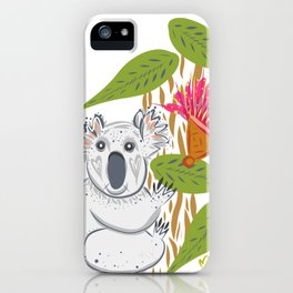 Koala animal nature lover happy print iPhone Case