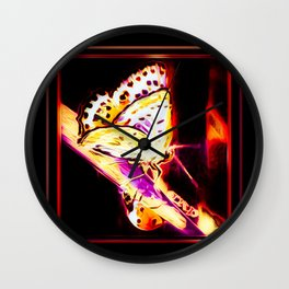 Insect Models: A Butterfly and a Ladybug 02-03 Wall Clock
