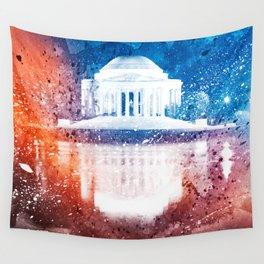 Jefferson Memorial - Vibrant Acrylic Fantasy Wall Tapestry