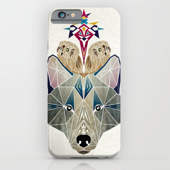 wolf and owls iPhone & iPod Case