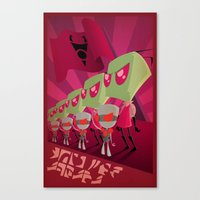 invader zim Canvas Prints featuring Join the Armada - Invader Zim by Laggy Creations