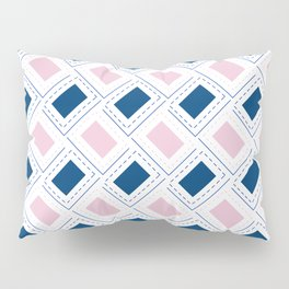 AFE Pink and Blue Pattern Pillow Sham