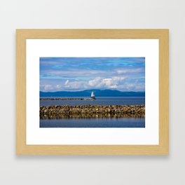 Lake Champlain. Burlington. Vermont. USA. Framed Art Print
