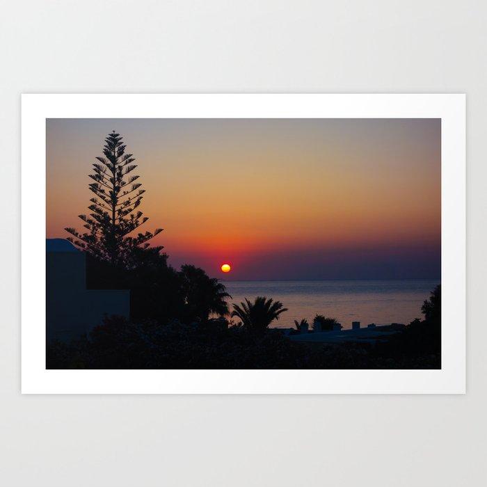Monolithos Sunrise 2 Art Print