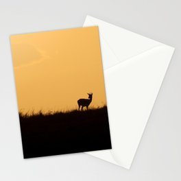 Silhouetted gazelles Stationery Cards