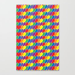 Pride Heart Scale Pattern Canvas Print