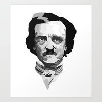 poe Art Prints featuring Poe by Brandi St. Romain