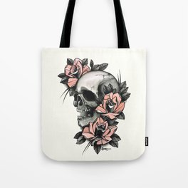 Skull and roses - tattoo Tote Bag