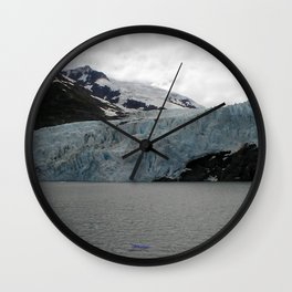 TEXTURES -- A Face of Portage Glacier Wall Clock