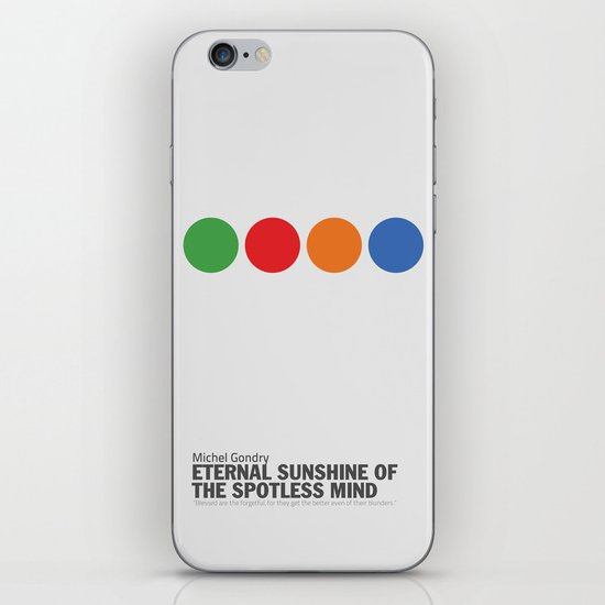 Eternal Sunshine of a Spotless Mind | Minimalist Movie Poster iPhone Skin