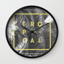 Tropical PalmTrees Wall Clock