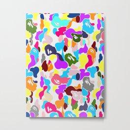 B APE colorful pattern Metal Print
