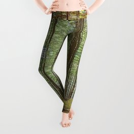 IN THE FOREST BY THE LAKE Leggings