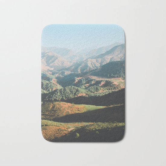 Layers of the Atlas Mountains, Africa Bath Mat
