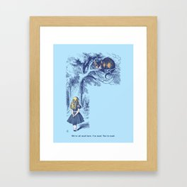 Alice and the Cheshire Cat Framed Art Print