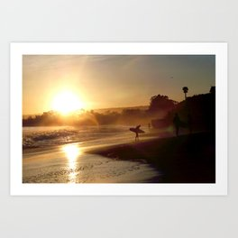 Walking Into the Sun Art Print