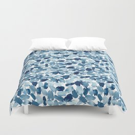 Blue Abstract Watercolor Duvet Cover