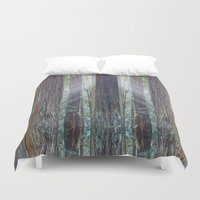 giants Duvet Covers featuring Future Giants by Mark Alder