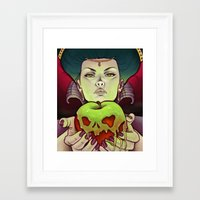 evil queen Framed Art Prints featuring Evil Queen by Alicia Jagels
