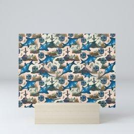 swordfish pattern Mini Art Print