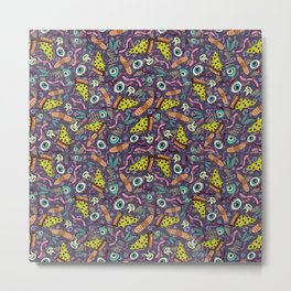 Eyeballs & Pizza Metal Print