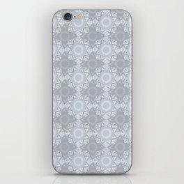 Lace Inspired Elegant Pattern - Grey iPhone Skin