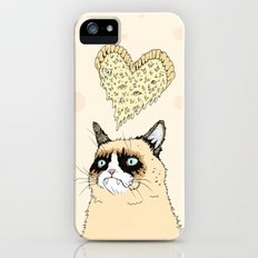 Grumpy Pizza Love Slim Case iPhone (5, 5s)